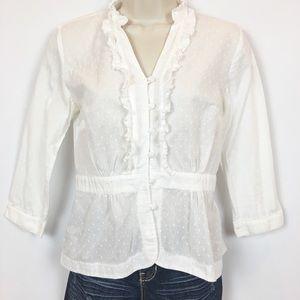 Ann Taylor Loft   Ruffles blouse